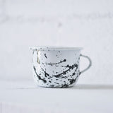 Enamel Black Paint Splatter