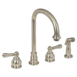 American Standard Hampton Two Handle Kitchen Faucet with Side Spray 4751.732