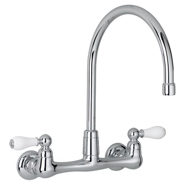 American Standard Heritage Two Handle High Arc Wall Mount Kitchen Faucet 7293.252