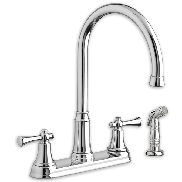 American Standard Portsmouth Two Handle High Arc Kitchen Faucet with Side Spray 4285.551