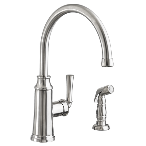 American Standard Portsmouth Single Handle High Arc Kitchen Faucet with Side Spray 4285.051