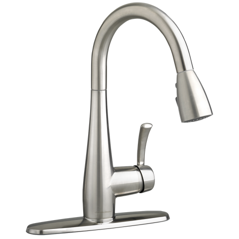 American Standard Quince Single Handle High Arc Pull Down Kitchen Faucet 4433.300