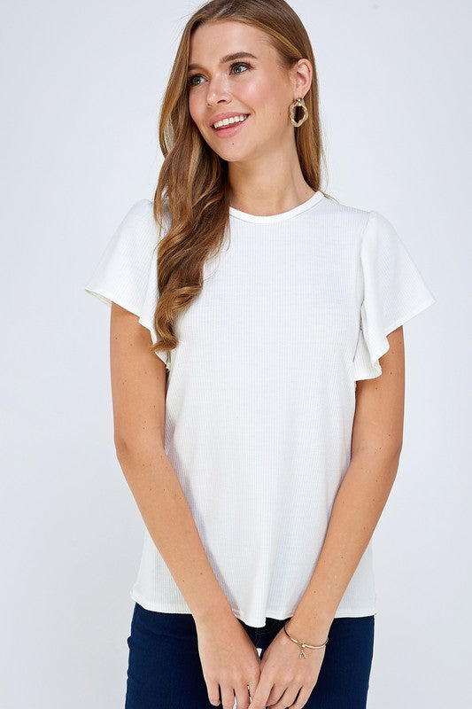 Ariel - Ruffle Sleeve Top