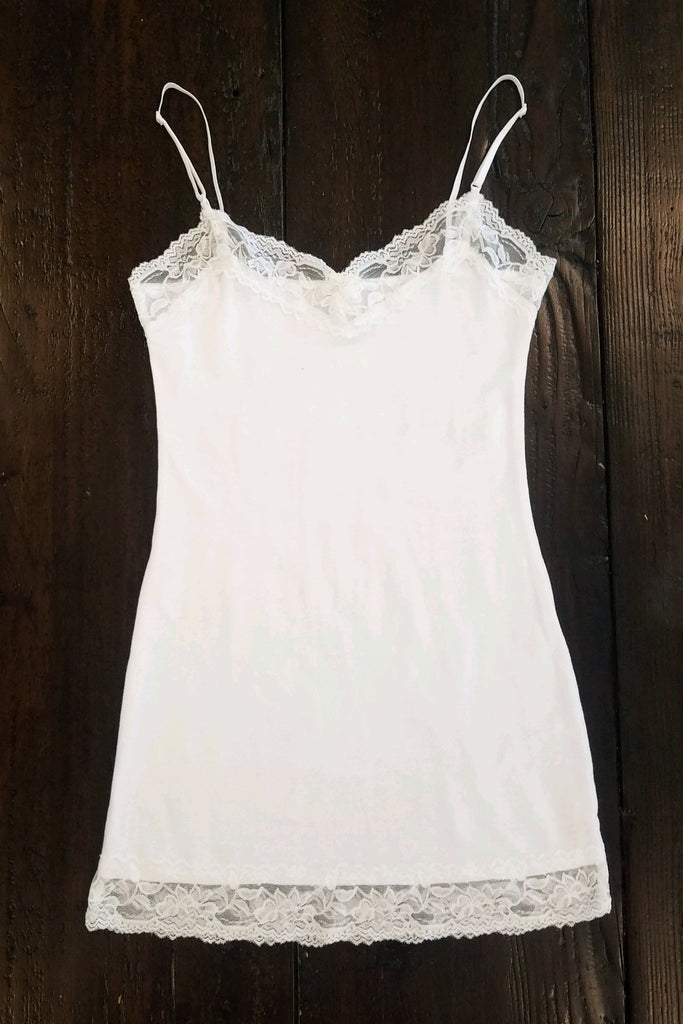 Betty - Lace Camisole, White