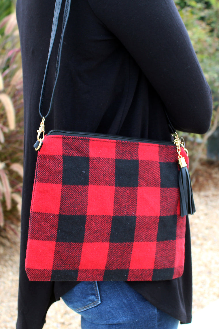 Buffalo Checkered Wristlet