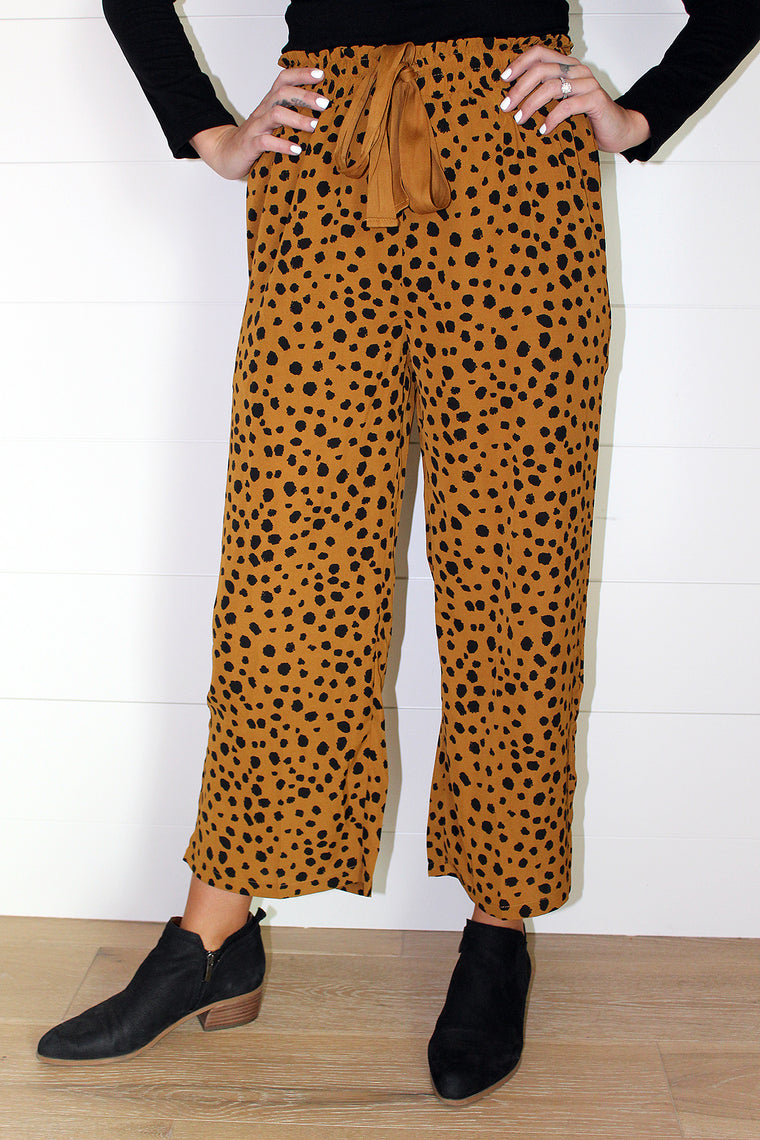 Cali - Leopard Crop Pants