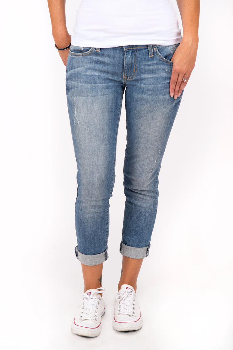 Danice - Boyfriend Jeans, Medium Denim