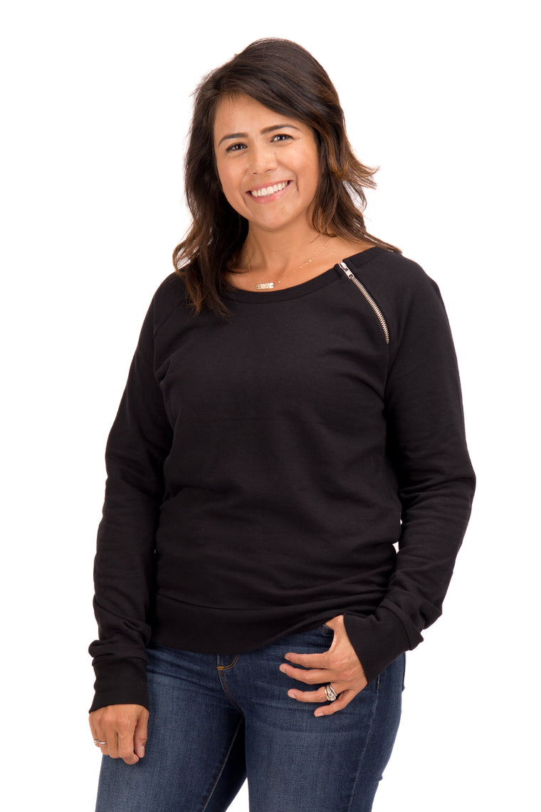 Stephanie - Fleece Raglan Sweatshirt