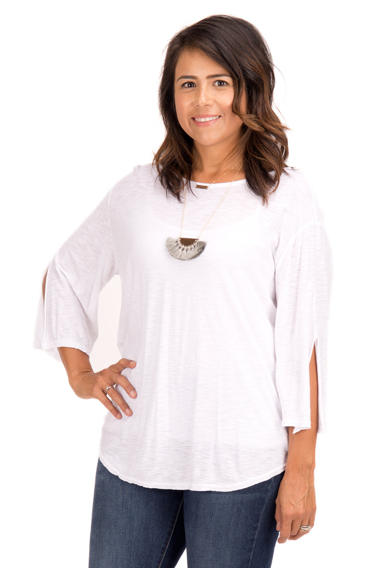 Chamberly - Bell Sleeve Top