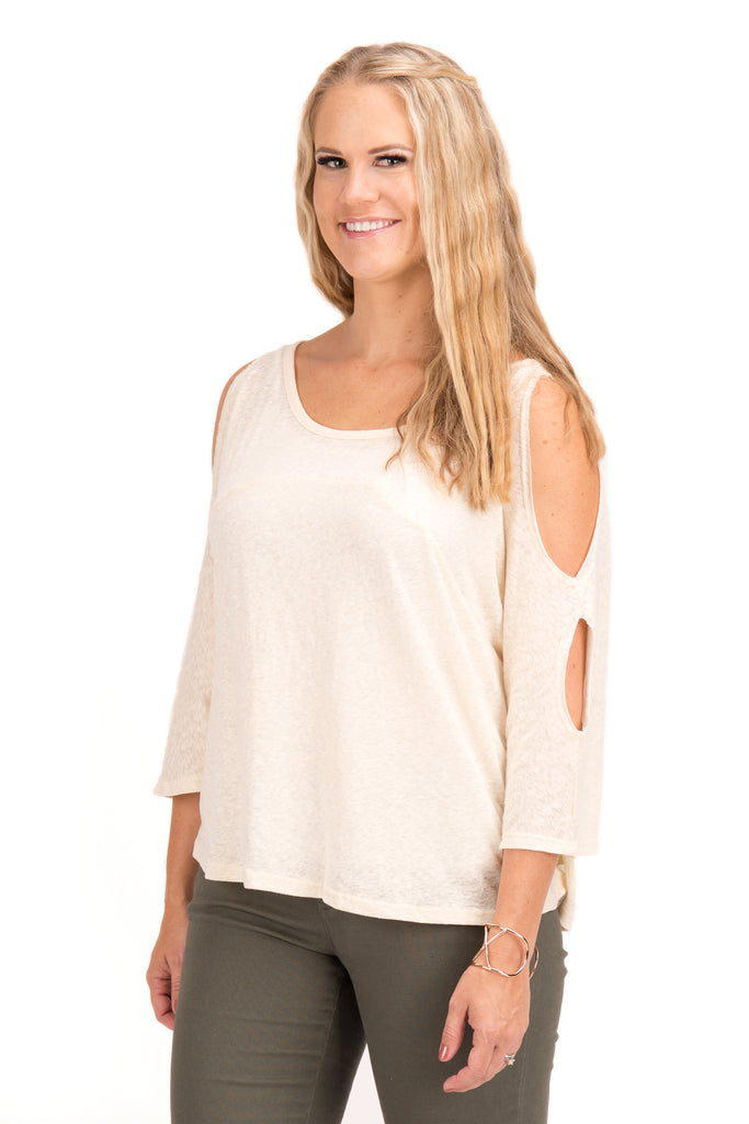 Kayla - Cold Shoulder Top