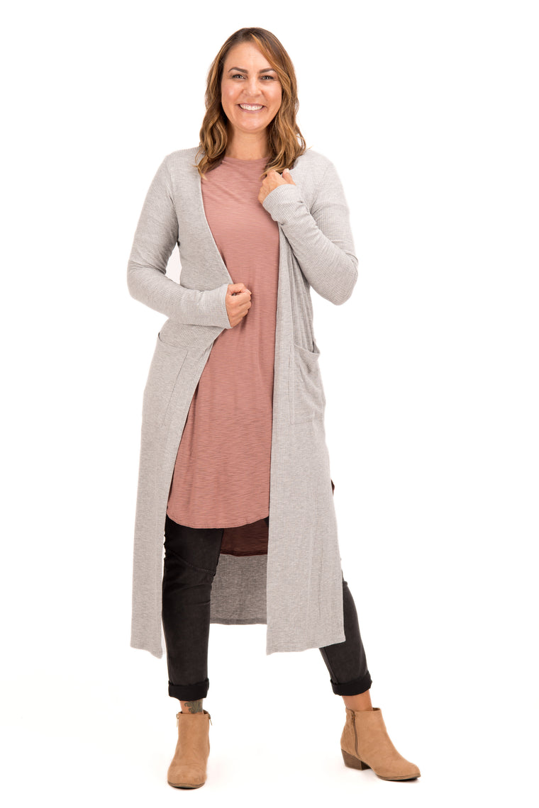 Myrandah - Long, Side Slit Cardigan