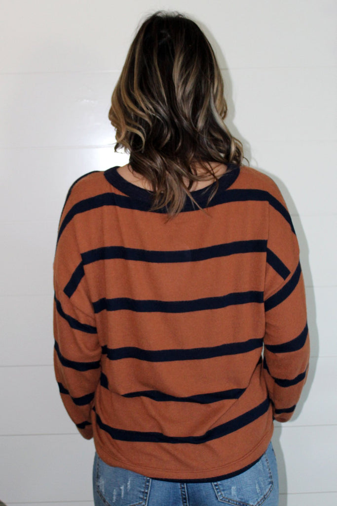 Nan - Striped Dolman Top