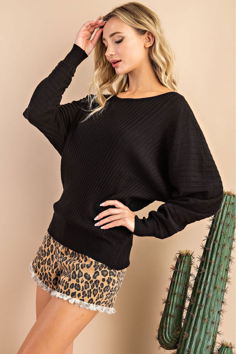Helen - Boatneck Dolman Sweater