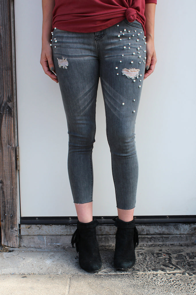 Jagger - Distressed Pearl Jeans
