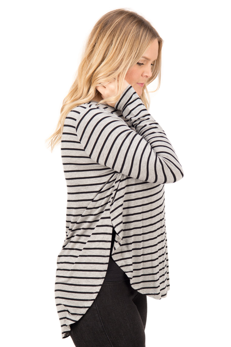 Janelle – Striped Long Sleeve Tee