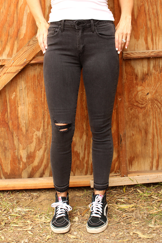 Jayme - Charcoal Skinny Jeans