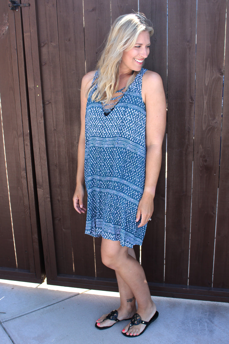 Joy - Printed Tank Dress