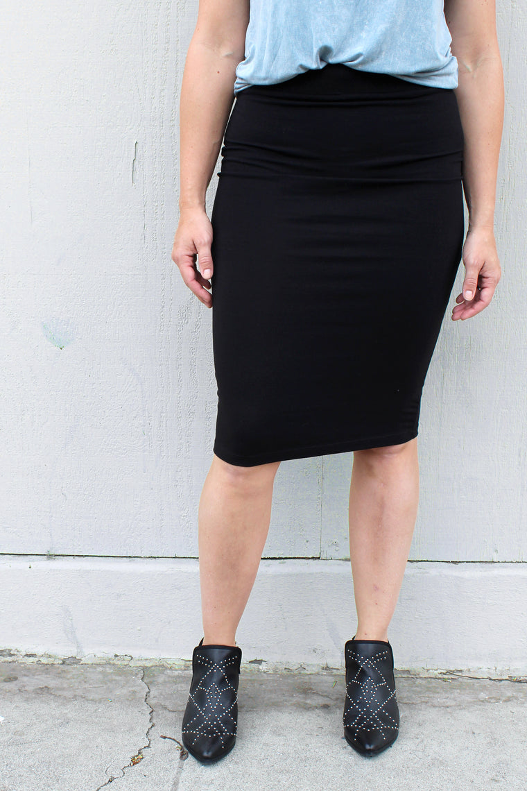 Cabi - Black Pencil Skirt