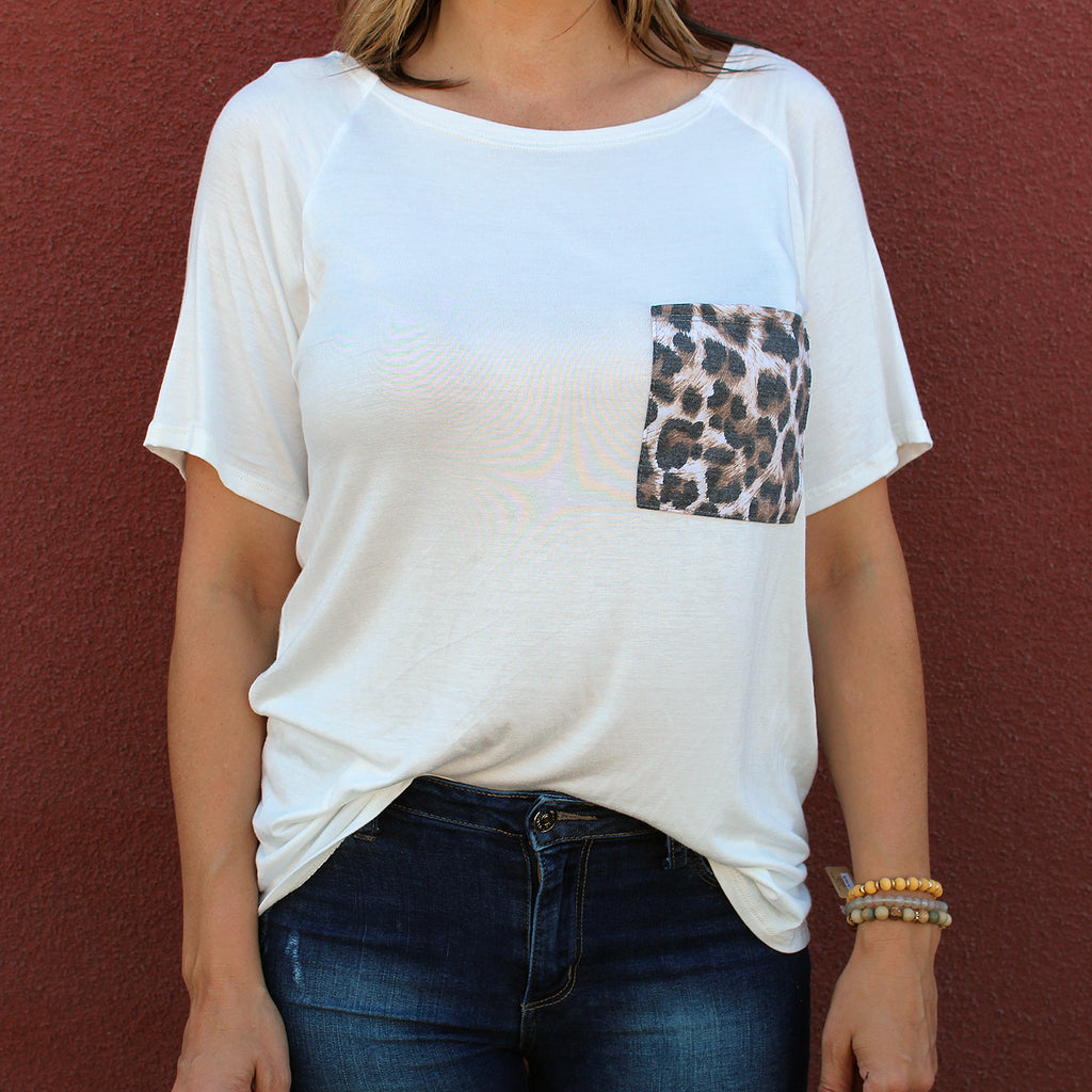 Leah - Raglan Pocket Tee