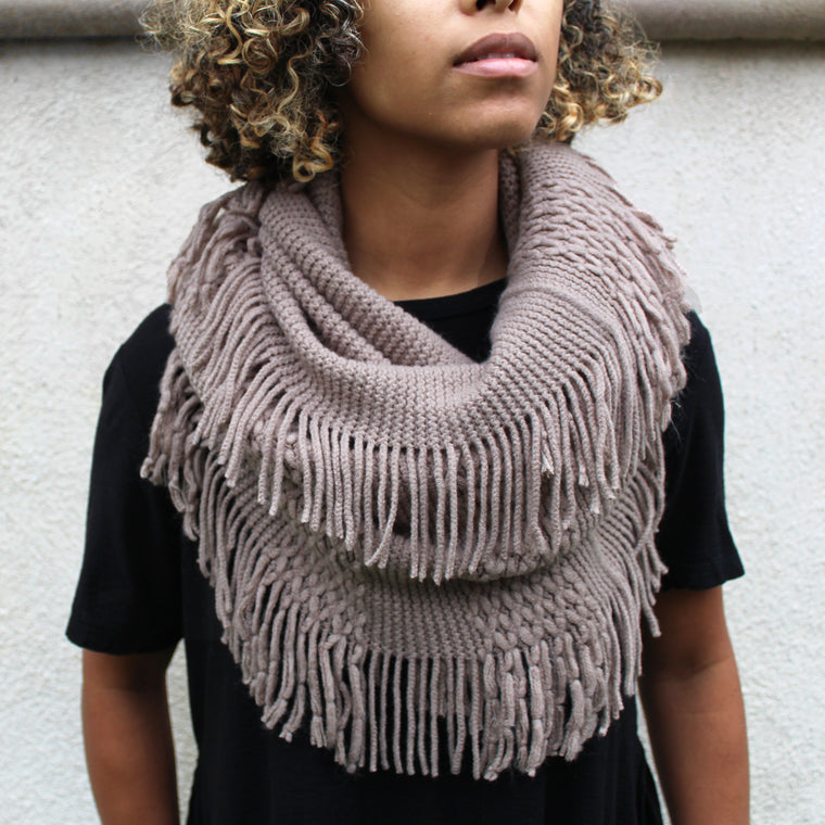 Leanne - Fringe Infinity Scarf