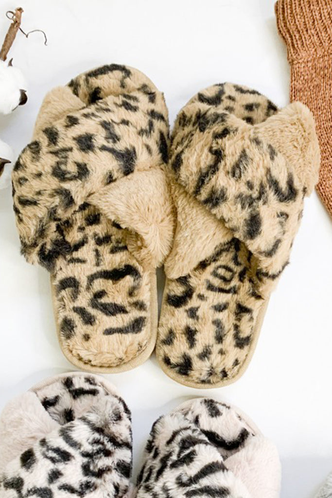 Leopard Furry Slippers