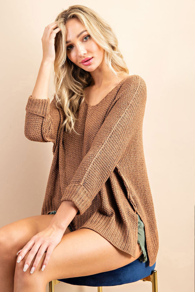 Mel - Knit Sweater, Coco