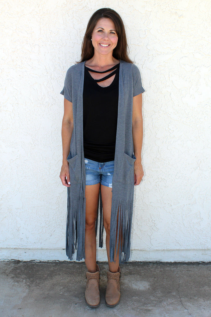 Mitch - Fringe Cardigan