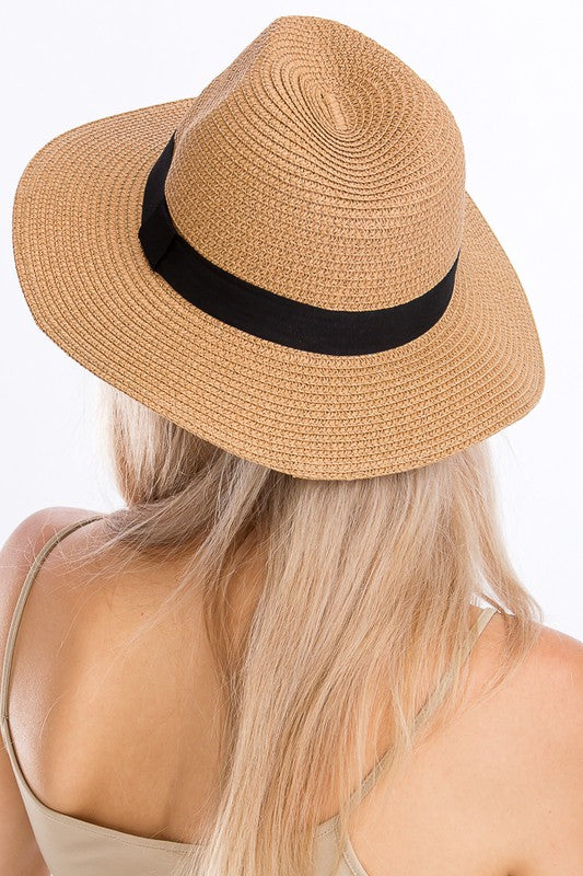 Panama Hat with Black Band