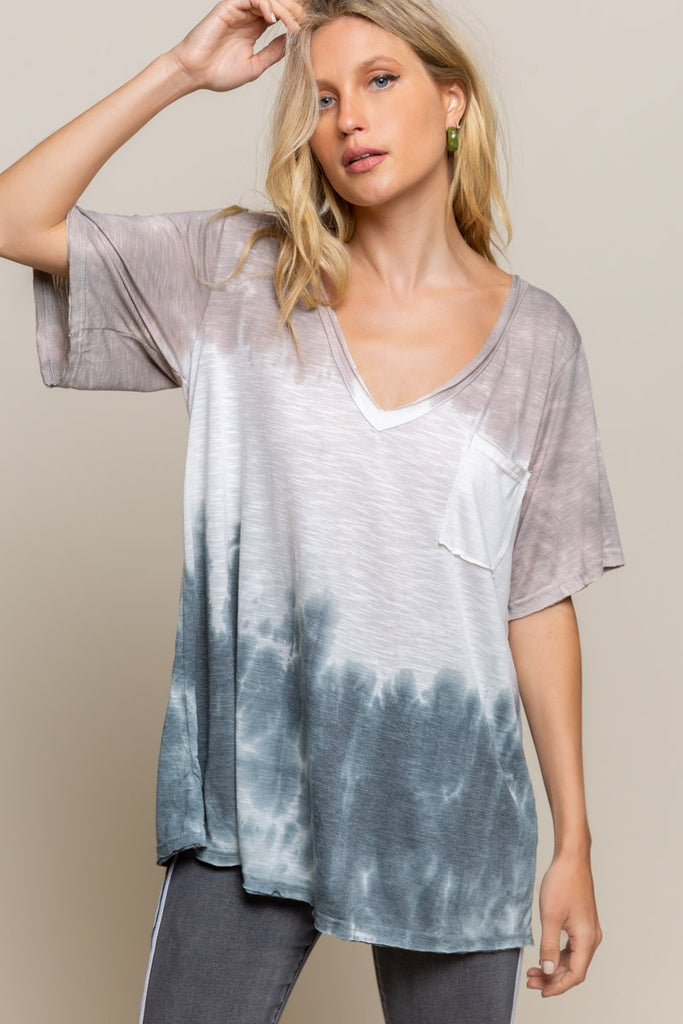 Polly - Oversized V-Neck, Mocha