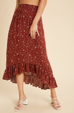 Bean - High Low Midi Skirt