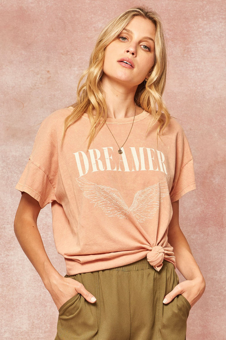 Dreamer Graphic Tee, Rose