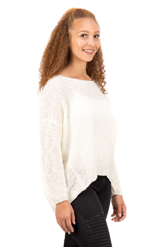 Sonia – Open Back Sweater