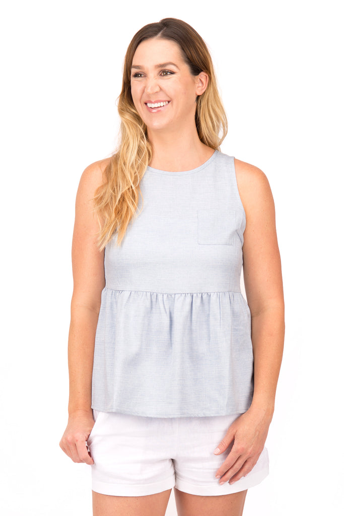 Briana - Peplum Top