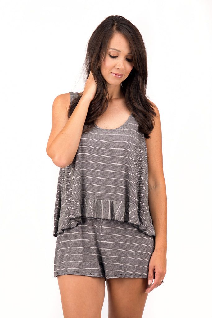 Robin - Striped Romper