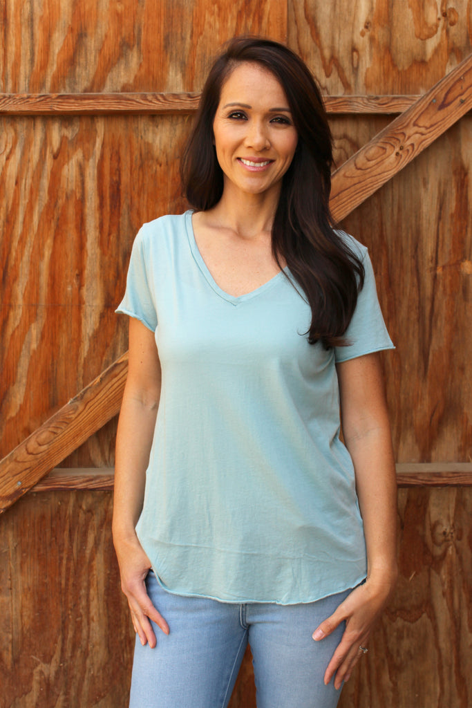 Opal - Short Sleeve V-neck Top