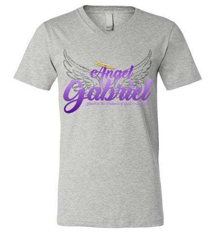 Angel Gabriel Unisex V-Neck T-Shirt (Athletic Heather) | YahWeh.io