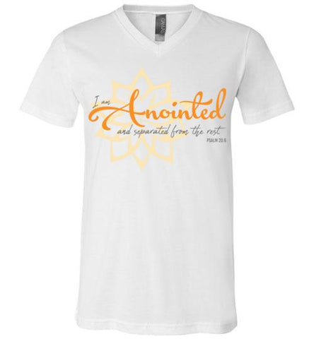 Anointed Tee (Canvas Unisex V-Neck)
