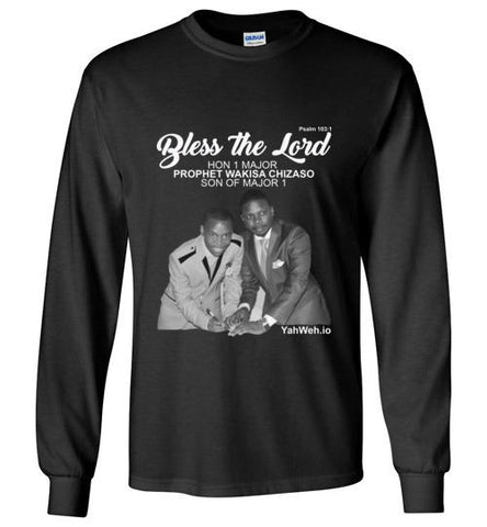 Bless the Lord Hon 1 Major Gildan Long-Sleeve T-Shirt (Black) | YahWeh