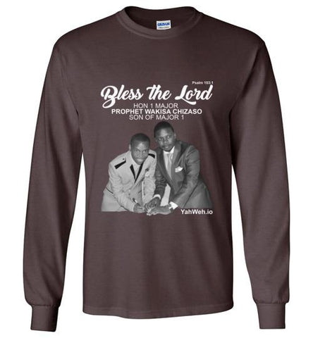 Bless the Lord Hon 1 Major Gildan Long-Sleeve T-Shirt (Dark Chocolate) | YahWeh