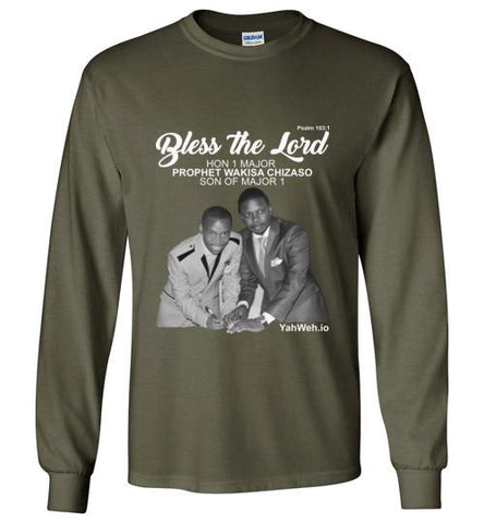 Bless the Lord Hon 1 Major Gildan Long-Sleeve T-Shirt (Military Green) | YahWeh