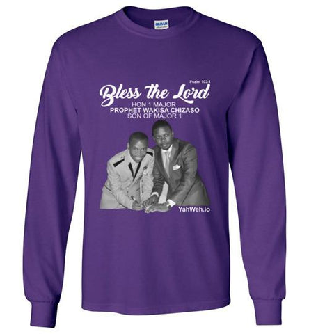Bless the Lord Hon 1 Major Gildan Long-Sleeve T-Shirt (Purple) | YahWeh