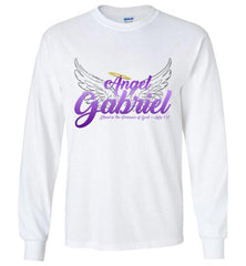 Angel Gabriel Long Sleeve Crew Neck T-Shirt (White) | YahWeh