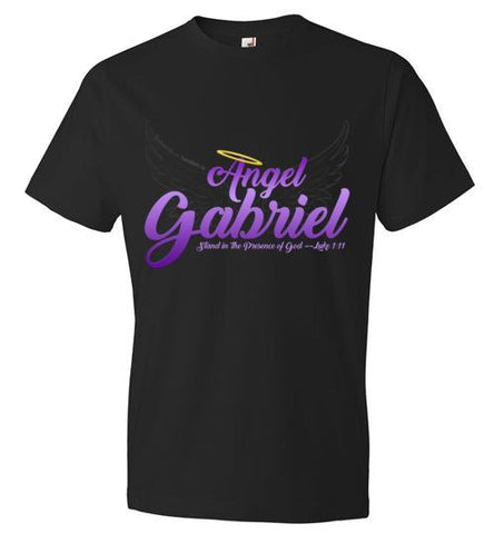 Angel Gabriel Fashion Crew Neck T-Shirt (Black) | YahWeh.io