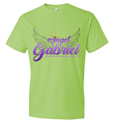 Angel Gabriel Fashion Crew Neck T-Shirt (Key Lime) | YahWeh.io