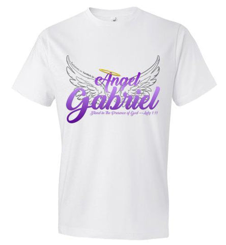 Angel Gabriel Fashion Crew Neck T-Shirt (White) | YahWeh.io
