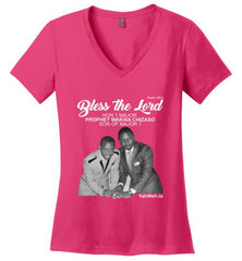 Bless the Lord Hon 1 Major V-Neck Short-Sleeve T-Shirt (Pink)