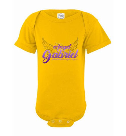 Angel Gabriel Infant Bodysuit (Yellow) | YahWeh.io
