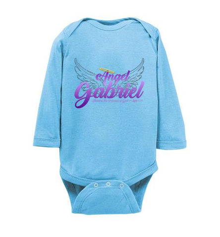 Angel Gabriel Infant Bodysuit (Light Blue) | YahWeh.io