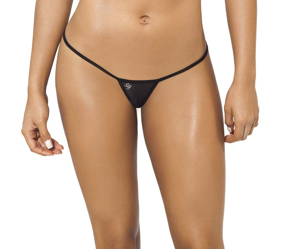 Joe Snyder Women Skyros V-String Black Mesh-OS