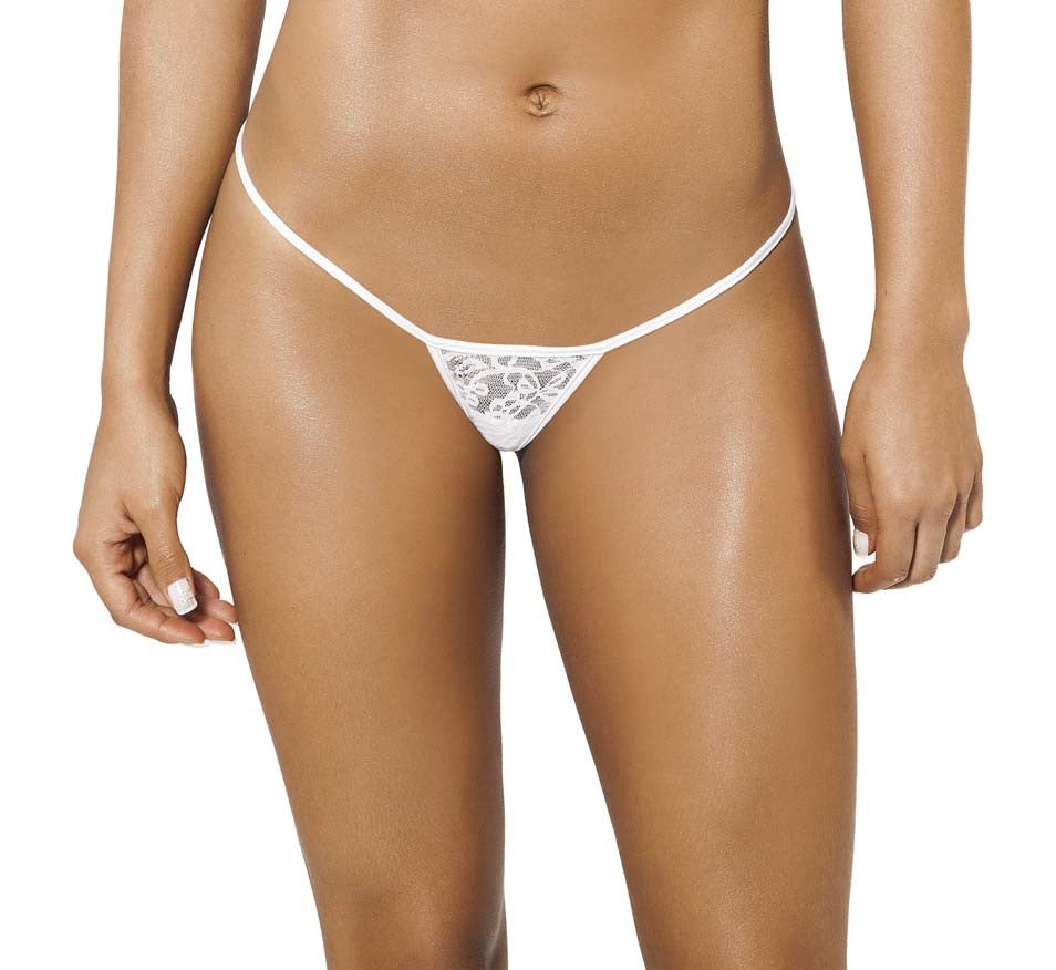 Joe Snyder Women Skyros V-String White Lace-OS